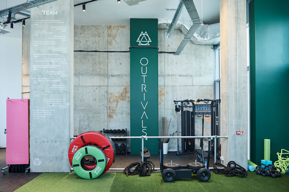Outrivals On The Tide North Greenwich Free weights Area
